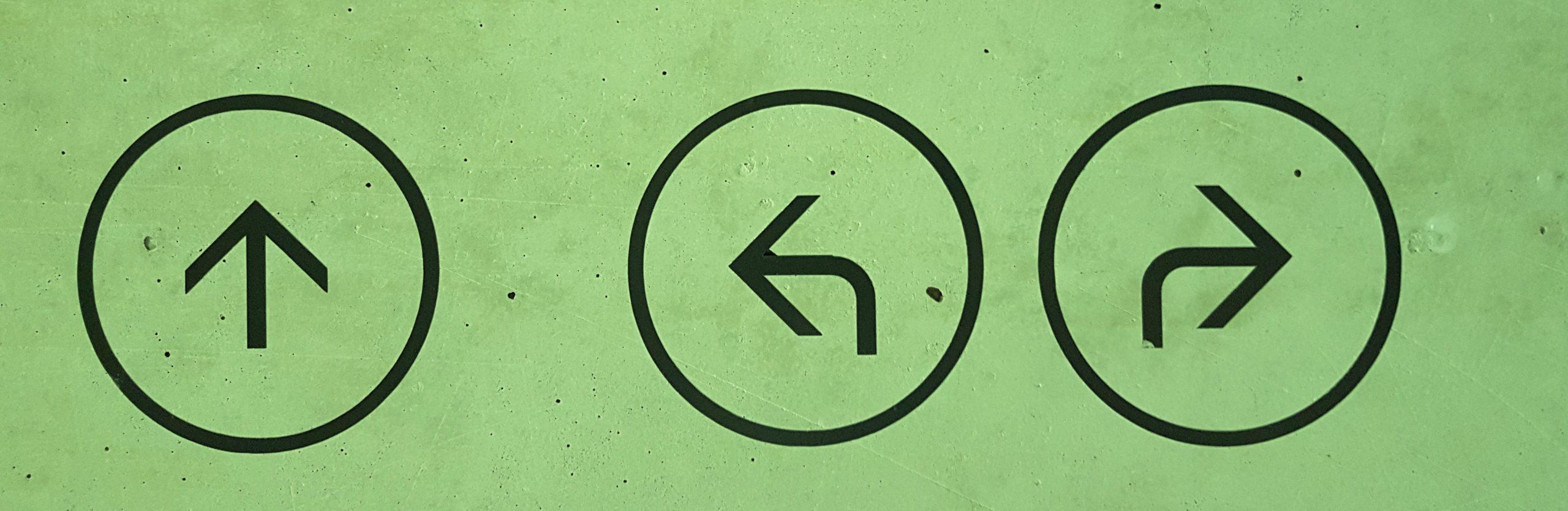 Bild von Richtungsschild